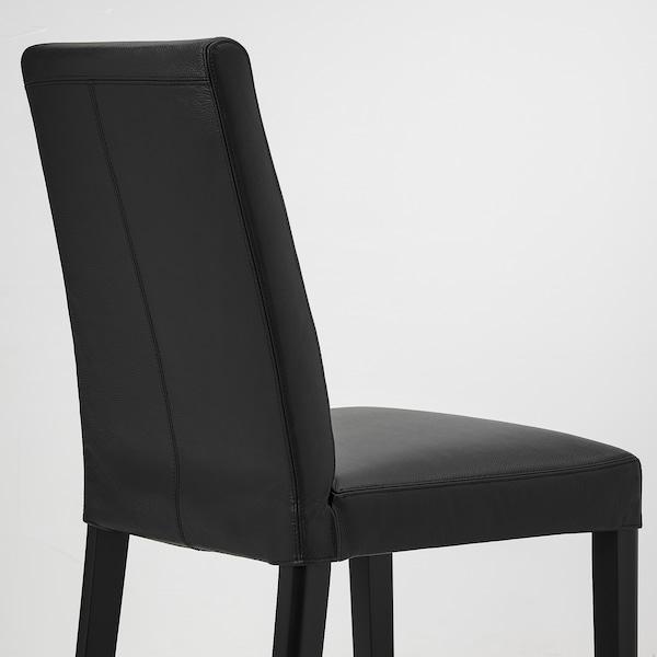 BERGMUND Chaise, noir/Glose noir