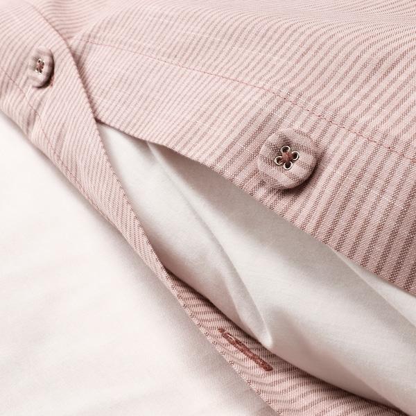 BERGPALM housse de couette et 2 taies rose/rayure 118 pouce carré  2 pièces 220 cm 240 cm 65 cm 65 cm