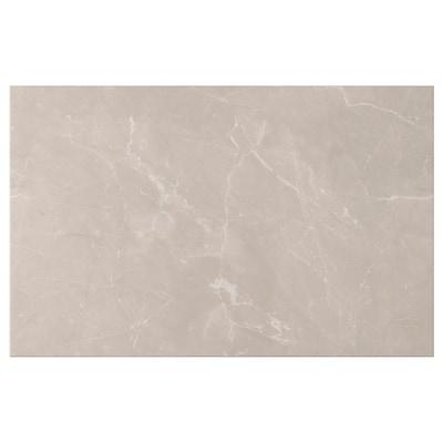 BERGSVIKEN Porte/face de tiroir, beige marbré, 60x38 cm