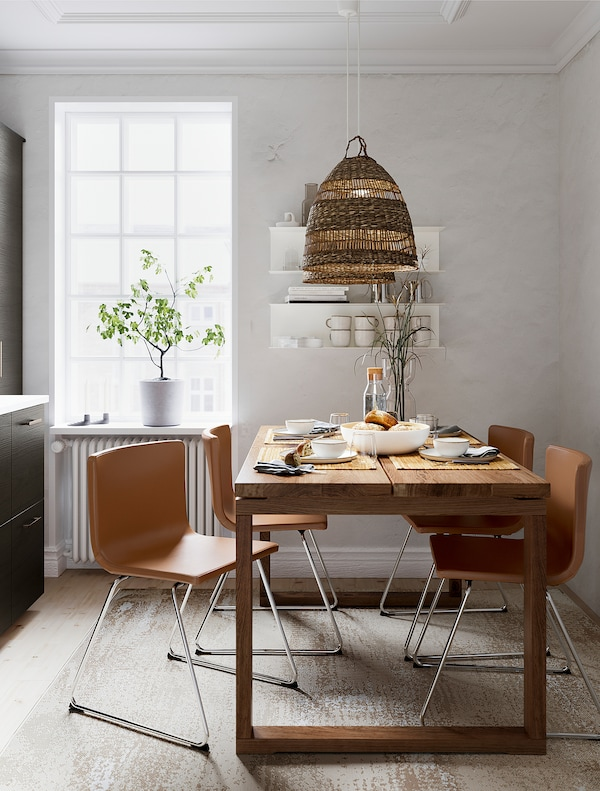 BERNHARD Chaise, chromé/Mjuk brun doré