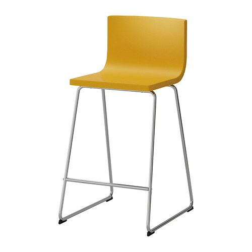 Barkruk Keuken Ikea : Bernhard IKEA Bar Stool with Backrest