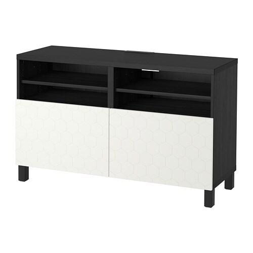 Bestå Banc Tv Avec Portes Brun Noirvassvikenstubbarp Blanc Ikea