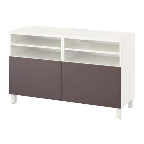 best banc tv avec portes blanc valviken brun fonc ikea. Black Bedroom Furniture Sets. Home Design Ideas