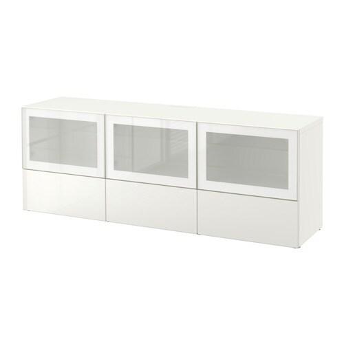 Best banc tv avec portes et tiroirs blanc selsviken - Ikea bettbank ...