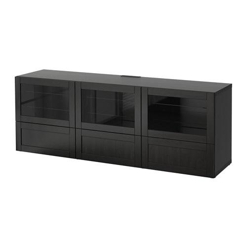 BESTÅ Banc TV avec portes et tiroirs - Hanviken/Sindvik ...