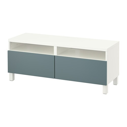 best banc tv avec tiroirs blanc valviken gris turquoise glissi re tiroir fermeture silence. Black Bedroom Furniture Sets. Home Design Ideas