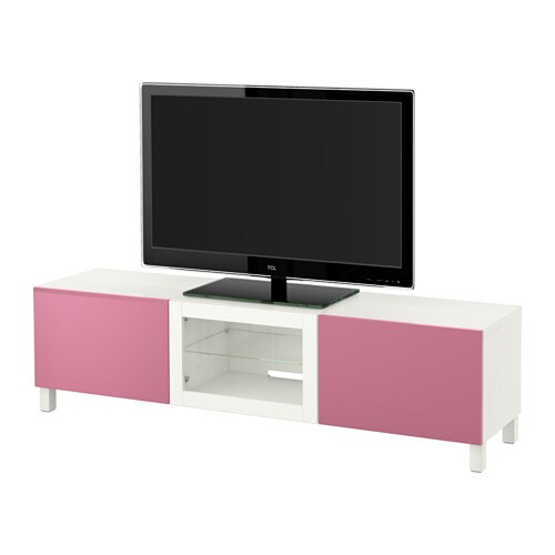 best banc tv avec tiroirs et porte lappviken rose. Black Bedroom Furniture Sets. Home Design Ideas