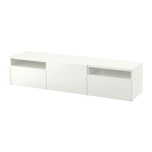 best banc tv blanc selsviken brillant blanc glissi re tiroir ouv par pression ikea. Black Bedroom Furniture Sets. Home Design Ideas