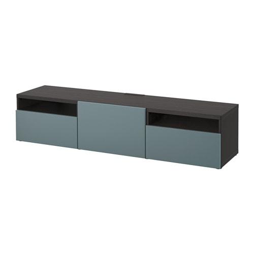 best banc tv brun noir valviken gris turquoise glissi re tiroir fermeture silence ikea. Black Bedroom Furniture Sets. Home Design Ideas