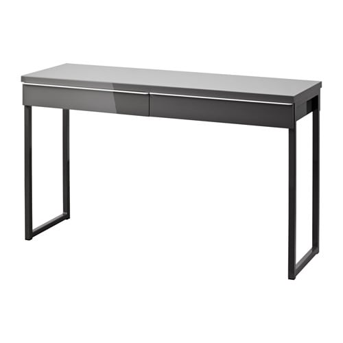 best burs bureau brillant gris ikea. Black Bedroom Furniture Sets. Home Design Ideas