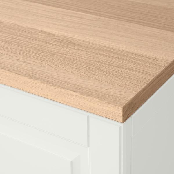 BESTÅ Combi rangement portes/tiroirs, blanc/Smeviken/Kabbarp blanc, 120x42x76 cm