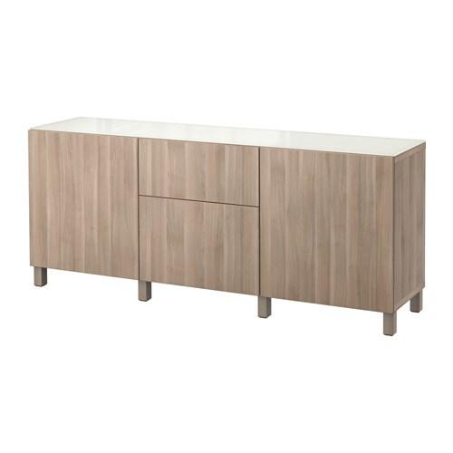 best combi rgt portes tiroirs lappviken motif noyer teint gris glissi re tiroir fermeture. Black Bedroom Furniture Sets. Home Design Ideas