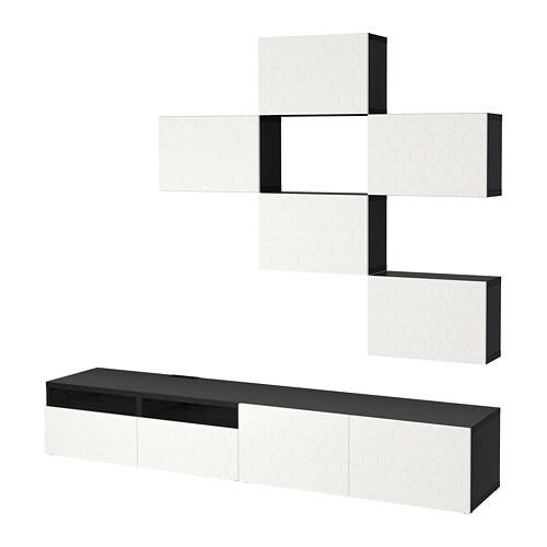 best combinaison meuble tv brun noir vassviken blanc glissi re tiroir ouv par pression ikea. Black Bedroom Furniture Sets. Home Design Ideas