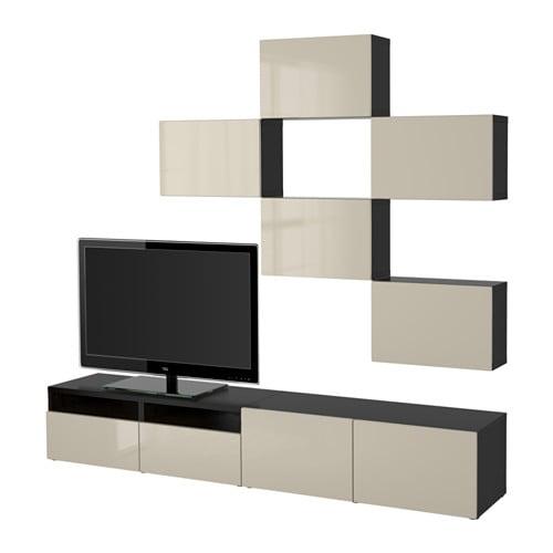 Best combinaison meuble tv brun noir selsviken brillant - Mobiletti porta tv ikea ...