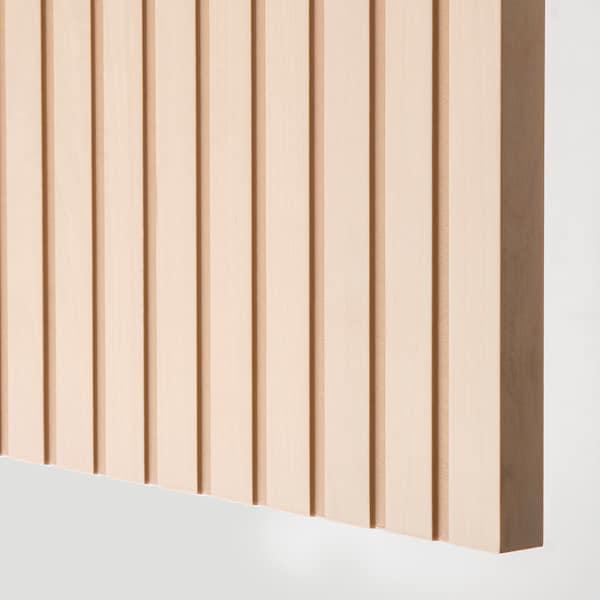 BESTÅ Combinaison rangement portes, blanc/Björköviken/Mejarp plaqué bouleau, 120x42x74 cm