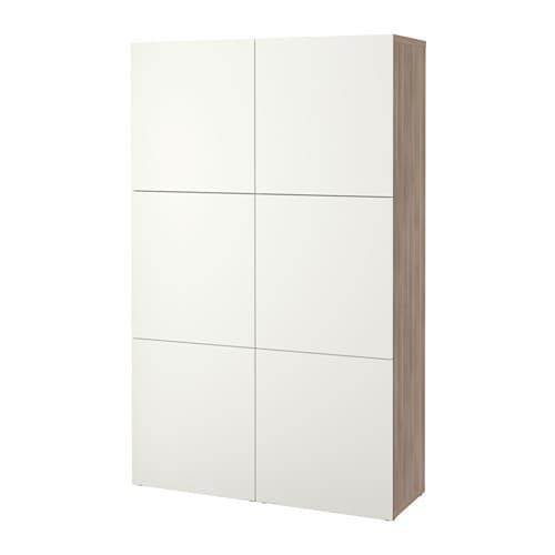 Best Combinaison Rangement Portes Motif Noyer Teint Gris Lappviken Blanc Ikea
