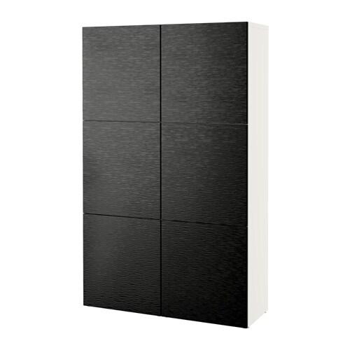 best combinaison rangement portes blanc laxviken noir ikea. Black Bedroom Furniture Sets. Home Design Ideas