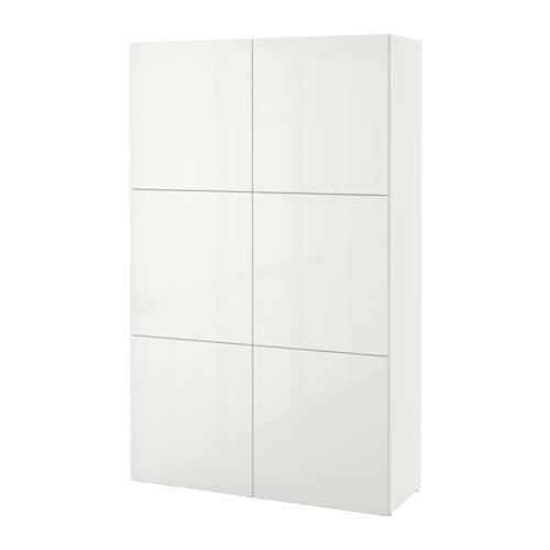 best combinaison rangement portes blanc selsviken brillant blanc ikea. Black Bedroom Furniture Sets. Home Design Ideas