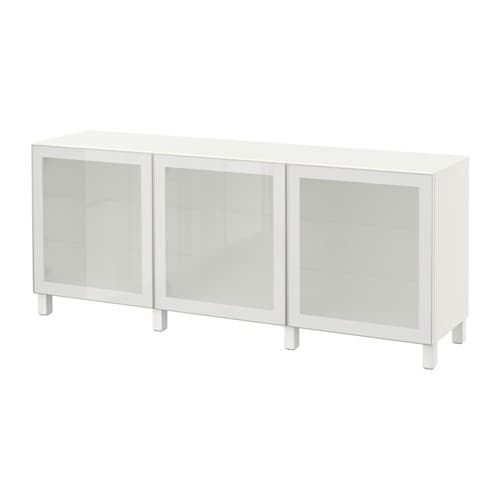 best combinaison rangement portes blanc glassvik blanc verre givr ikea. Black Bedroom Furniture Sets. Home Design Ideas