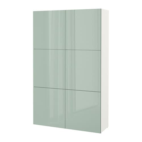 best combinaison rangement portes blanc selsviken brillant gris vert clair ikea. Black Bedroom Furniture Sets. Home Design Ideas