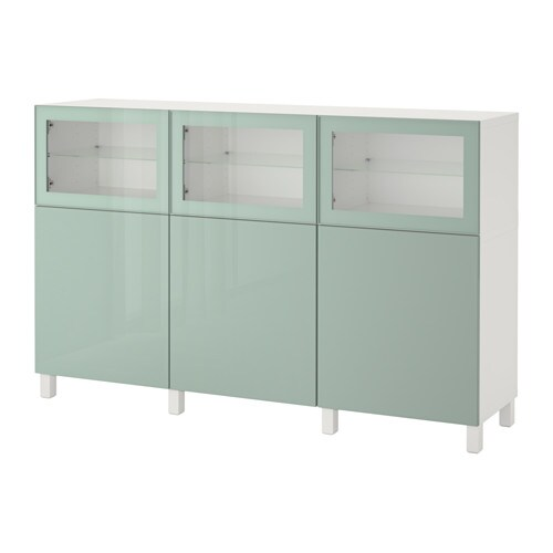 best combinaison rangement portes blanc selsviken brillant gris vert clair verre transparent. Black Bedroom Furniture Sets. Home Design Ideas
