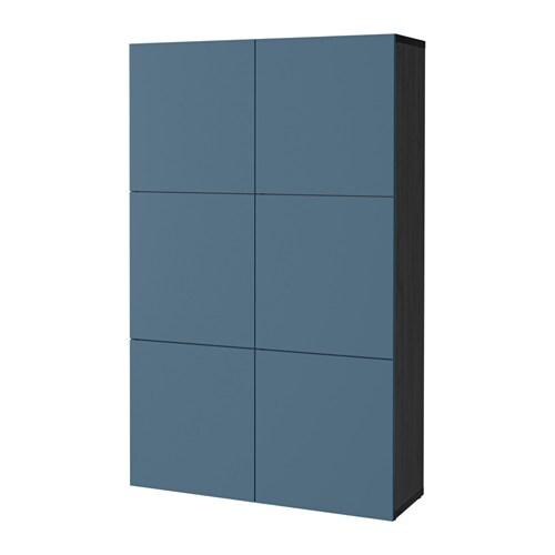 Best Combinaison Rangement Portes Brun Noir Valviken Bleu Fonc Ikea