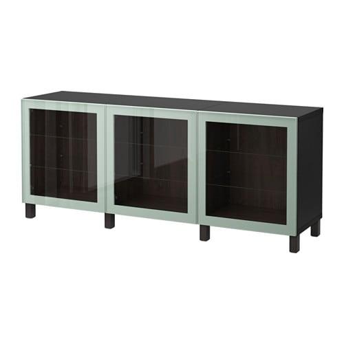 best combinaison rangement portes brun noir glassvik brillant gris vert clair verre. Black Bedroom Furniture Sets. Home Design Ideas