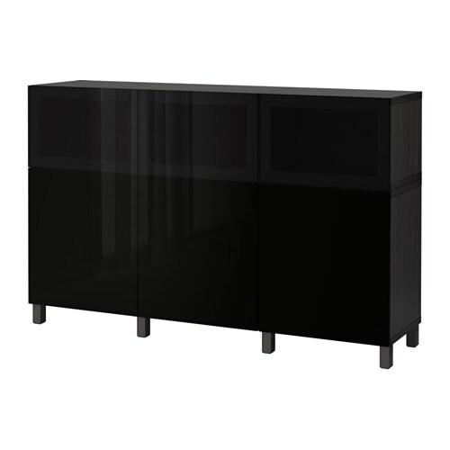 best combinaison rangement portes brun noir selsviken glassvik brillant noir verre fum ikea. Black Bedroom Furniture Sets. Home Design Ideas