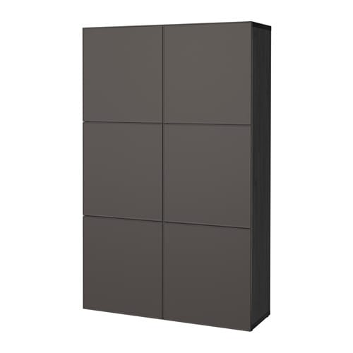 best combinaison rangement portes brun noir grundsviken gris fonc ikea. Black Bedroom Furniture Sets. Home Design Ideas