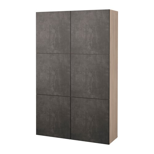 best combinaison rangement portes motif noyer teint gris kallviken gris fonc imitation. Black Bedroom Furniture Sets. Home Design Ideas