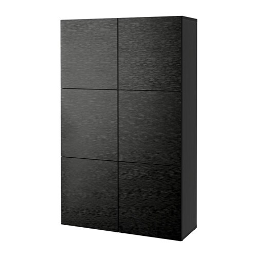 best combinaison rangement portes brun noir laxviken noir ikea. Black Bedroom Furniture Sets. Home Design Ideas