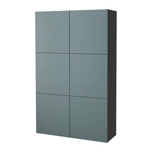 Best Combinaison Rangement Portes Brun Noir Valviken Gris Turquoise Ikea