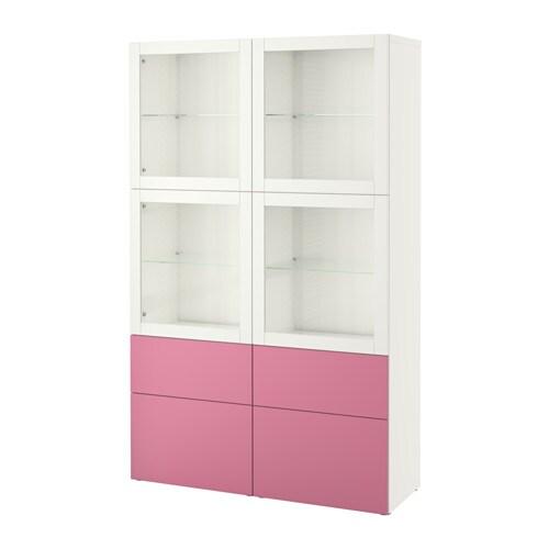 Best Combinaison Rangement Ptes Vitr Es Lappviken Rose Sindvik Blanc Verre Transparent