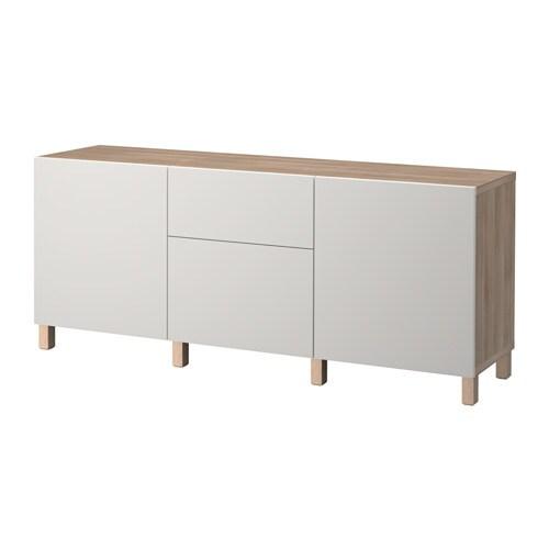 best combinaison rangement tiroirs motif noyer teint gris lappviken gris clair glissi re. Black Bedroom Furniture Sets. Home Design Ideas