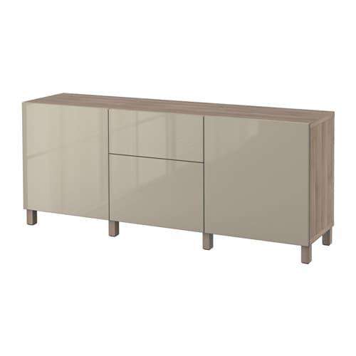 best combinaison rangement tiroirs motif noyer teint gris selsviken brillant beige. Black Bedroom Furniture Sets. Home Design Ideas