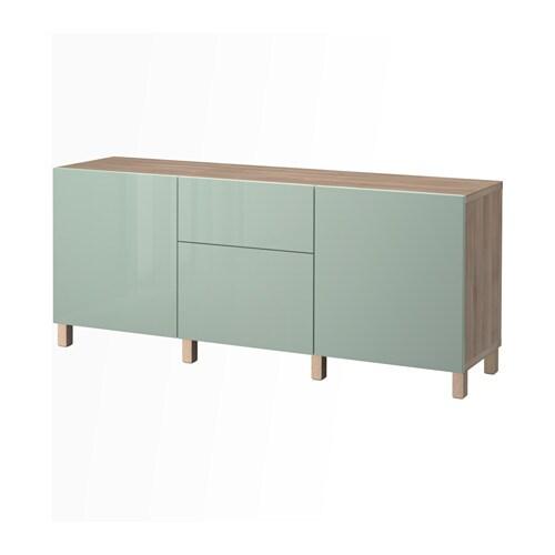 best combinaison rangement tiroirs motif noyer teint gris selsviken brillant gris vert clair. Black Bedroom Furniture Sets. Home Design Ideas
