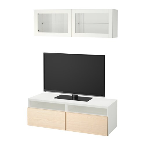 best combinaison rangt tv vitrines blanc inviken plaqu fr ne glissi re tiroir fermeture. Black Bedroom Furniture Sets. Home Design Ideas