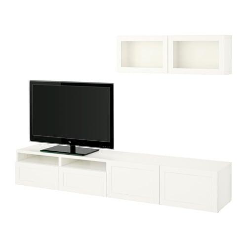 Best combinaison rangt tv vitrines hanviken sindvik blanc verre transparen - Ikea tours fermeture ...