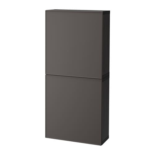 best l ment mural 2 portes brun noir grundsviken gris fonc ikea. Black Bedroom Furniture Sets. Home Design Ideas