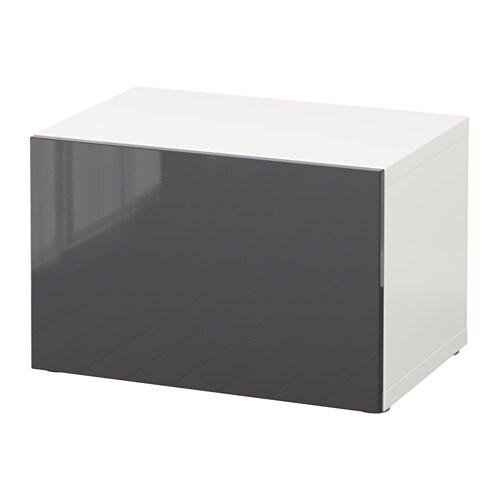 best tag re avec porte blanc selsviken brillant gris ikea. Black Bedroom Furniture Sets. Home Design Ideas