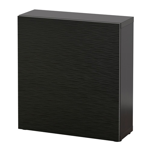 best tag re avec porte brun noir laxviken noir ikea. Black Bedroom Furniture Sets. Home Design Ideas
