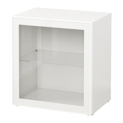 best tag re avec porte vitr e blanc glassvik blanc verre transparent ikea. Black Bedroom Furniture Sets. Home Design Ideas