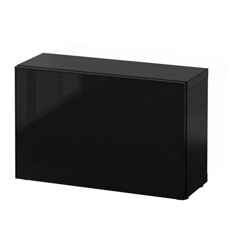 best tag re avec porte vitr e brun noir glassvik noir verre fum ikea. Black Bedroom Furniture Sets. Home Design Ideas