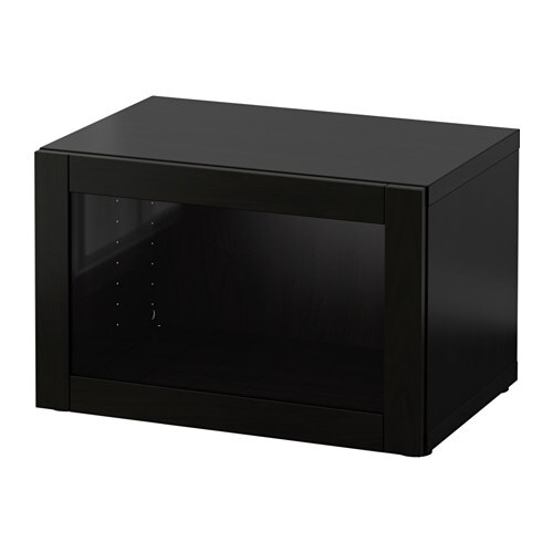 best tag re avec porte vitr e sindvik brun noir ikea. Black Bedroom Furniture Sets. Home Design Ideas
