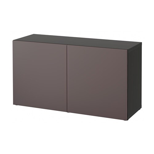best tag re avec portes brun noir valviken brun fonc ikea. Black Bedroom Furniture Sets. Home Design Ideas