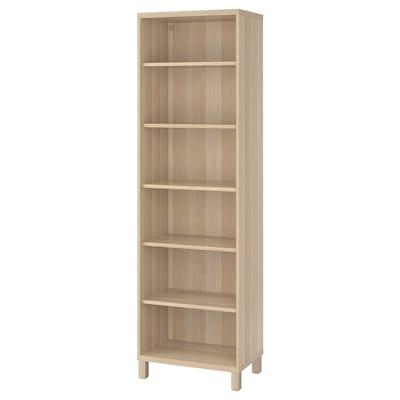 BESTÅ Rangement fermé, effet chêne blanchi, 60x40x202 cm