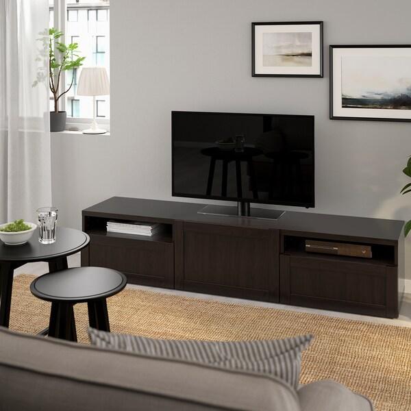 best banc tv hanviken brun noir ikea