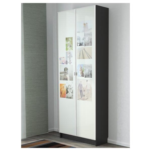 BILLY / MORLIDEN Bibliothèque, brun noir, 80x30x202 cm