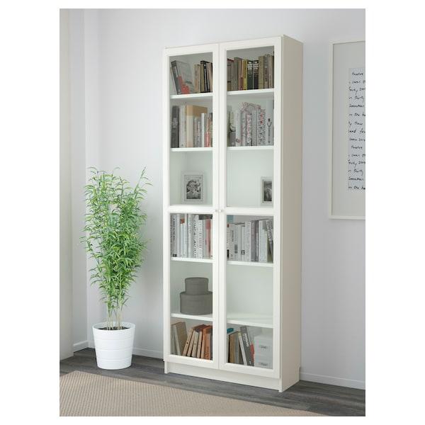 BILLY / OXBERG Bibliothèque, blanc, 80x30x202 cm