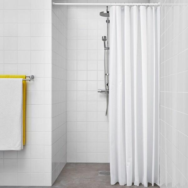 BJÄRSEN rideau de douche blanc 70 g/m² 200 cm 180 cm 3.60 m² 70 g/m²